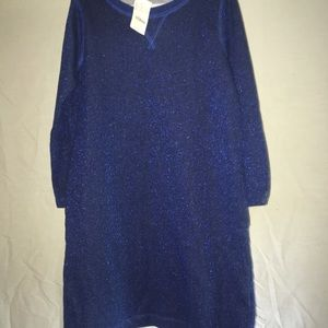 crew cuts metallic blue dress with pockets